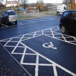 Cycle Lane Colour Painting in Wotton Cross 4