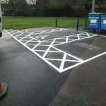 Car Park Bay Painting in Plas Gogerddan 4