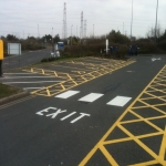Cycle Lane Colour Painting in Wotton Cross 6