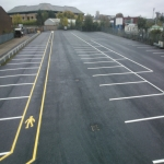 Cycle Lane Colour Painting in Wotton Cross 3