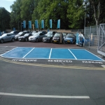 Car Park Bay Painting in Aber Village 5