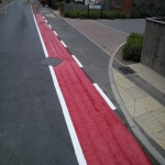 Cycle Lane Colour Painting in Wotton Cross 9