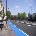 Cycle Lane Colour Painting in Wotton Cross 7