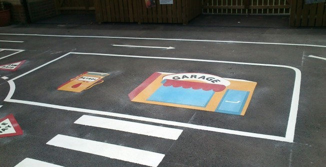 Playground Coloured Painting in Aberaman
