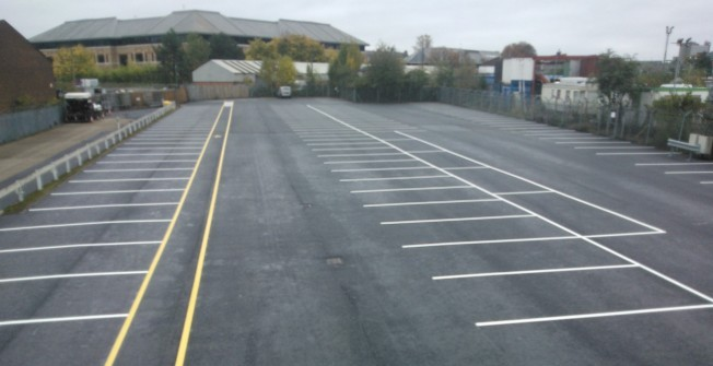 Thermoplastic Line Markings in Pandy